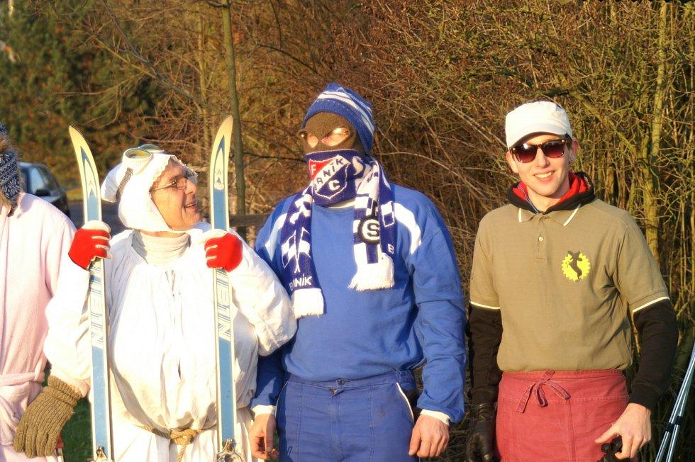 Recesistický běh na lyžích ze Lhotic do Bosně