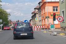 Stavební práce v Havlíčkově ulici v Mladé Boleslavi.