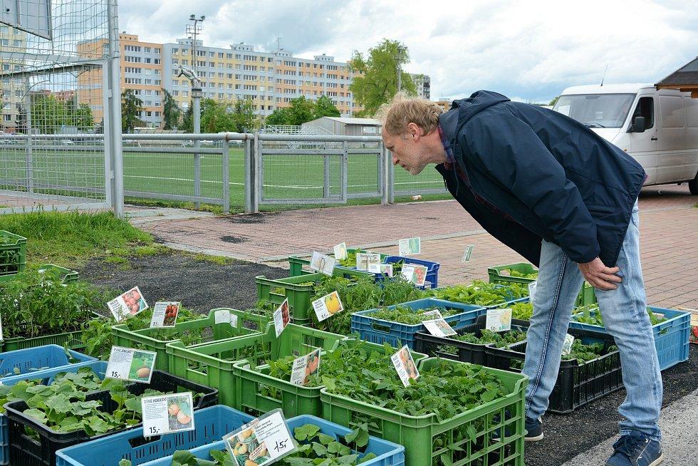 Farmářské trhy u sportovního stadionu v Mladé Boleslavi