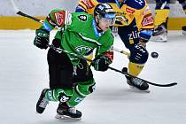 Boleslavský hokejista Oscar Flynn.