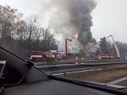 Požár autobusu v Kladně