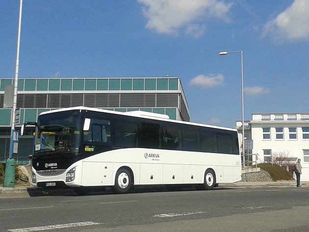 Autobus společnosti ARRIVA Střední Čechy. Ilustrační foto
