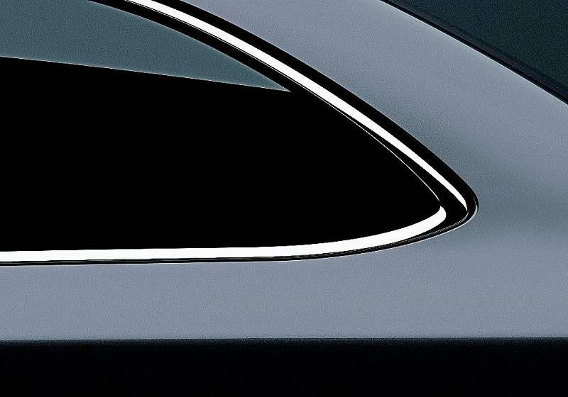 Detailní pohled na zadní prodlouženou část kombíku Superb.