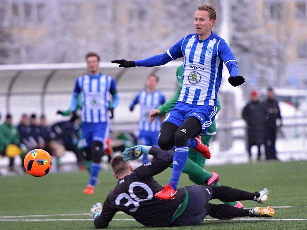 Jan Chramosta otevřel skóre proti Vltavínu.