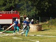 Závody v požárním sportu v Březovicích.