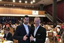 Gašper Krošelj se potkal se svým idolem Dominikem Haškem