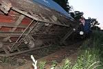 Nehoda nákladního vlaku v Mladé Boleslavi.