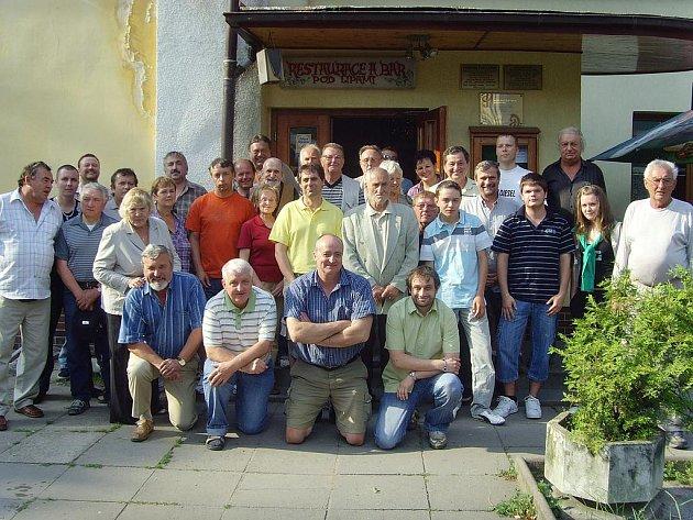 Poslední setkání členů oddílu stolního tenisu Steer Mladá Boleslav