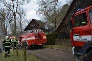 Při požáru historické roubenky na Mladoboleslavsku zemřel majitel