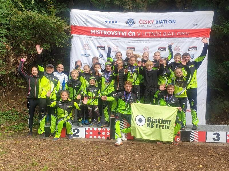 KB Trefa: vítězové Českého poháru v letním biatlonu žactva