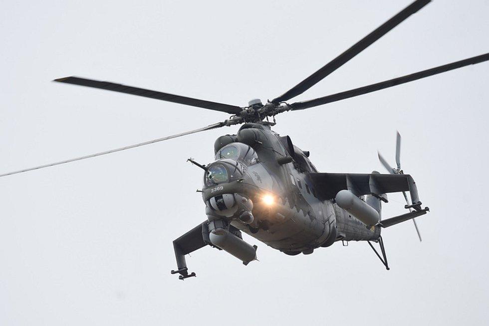 Bitevní vrtulník Mi-24.