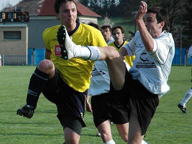 Fotbalisté Boroviny zíkali v 17. kole krajského přeboru na domácím hřišti první jarní vítězství nad celkem Vrchoviny.
