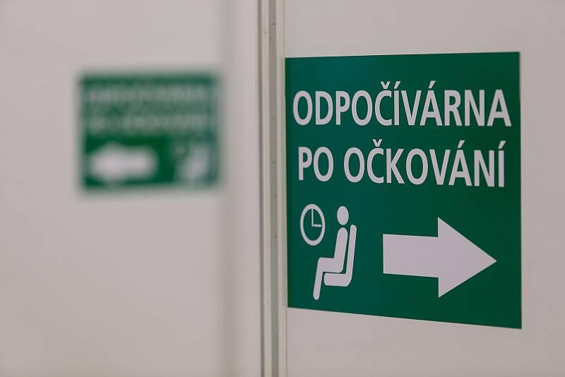 Očkovací centrum v Třebíči.