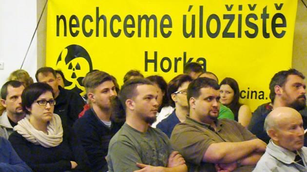Protest proti úložišti Horka