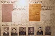 Jeden z panelů výstavy v Moravských Budějovicích je určen vyšetřovatelům a příslušníkům Sboru národní bezpečnosti a státní policie, kteří se přímo na tragických událostech podíleli.