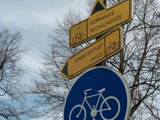O cyklotrasy na Vysočině se začali zajímat i Italové.