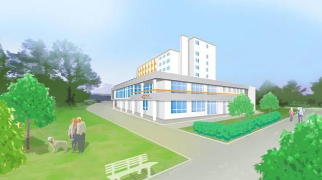 Vizualizace Delta Senior Centra Třebíč, jak bude vypadat po rekonstrukci.