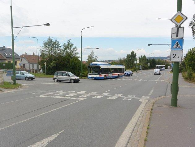 Hrotovická ulice v Třebíči.
