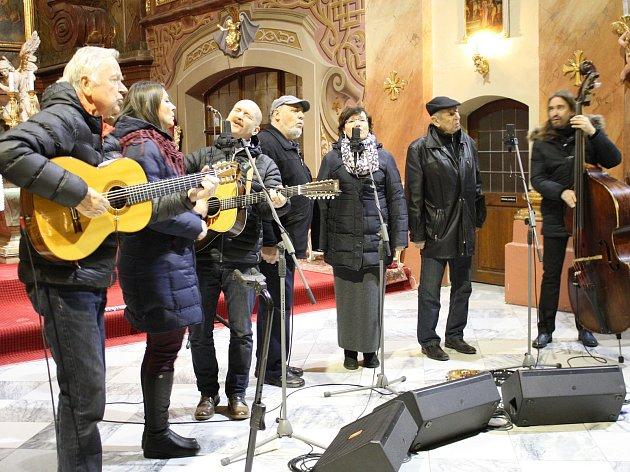 Spirituál kvintet v chrámu sv. Markéty.