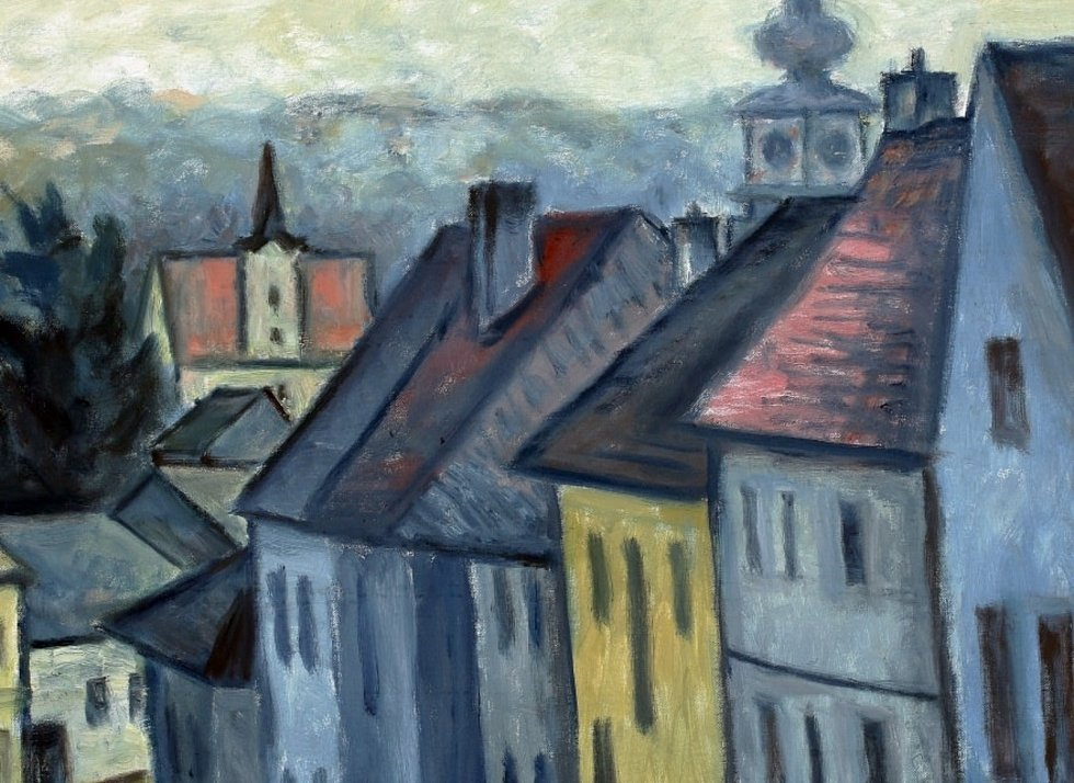 Tento týden vystavuje muzejní výdejní okýnko obrazy od třebíčského rodáka Vlastimila Tomana. foto: archiv Muzea Vysočiny Třebíč