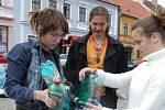 Na Karlově náměstí proběhla i osvěta o třídění odpadu.