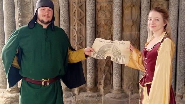 Kostýmované prohlídky v třebíčské bazilice.