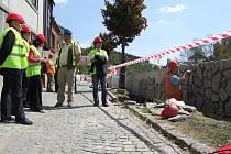 Práce na protipovodňových opatřeních v Třebíči pokračují.