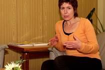Sociální pracovnice Ilona Škarabelová.