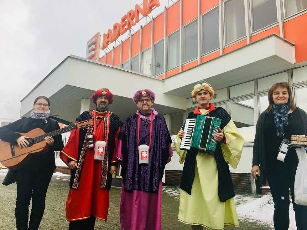 První letošní významná návštěva elektrárny Dukovany – delegace Tří králů v rámci charitativní sbírky Oblastní charity Třebíč.