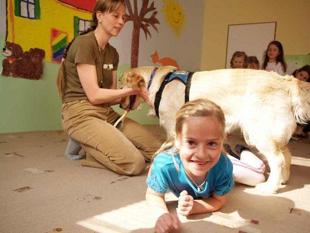 Mateřská škola ve Starči zpestřila dětem dne v podobě canisterapie.