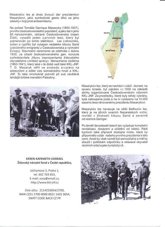 Masarykův les vysázeli českoslovenští emigranti okolo roku 1930.