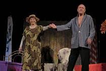 Libuše Švormová a Petr Nárožný jako Muriel a Herbert v poslední scénce.