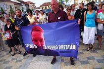 Demonstrace v Moravských Budějovicích 11. června 2019.