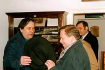 Václav Havel v rozhovoru s Jiřím Kuběnou.