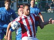 Náměšťský kanonýr Petr Kučera (v popředí) pomohl svému týmu k zisku poháru dvěma slepenými góly.