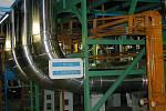 Potrubní část strojovny prvního reaktorového bloku.