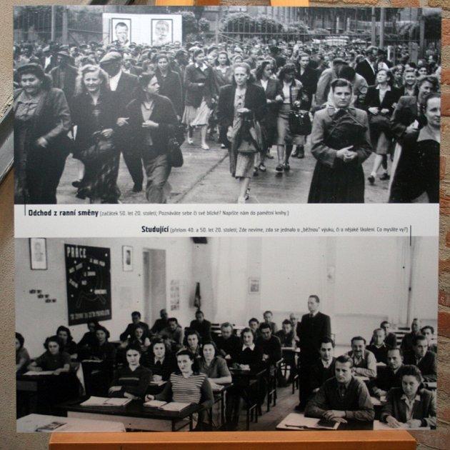 Výstava snímků ze staré Boroviny v třebíčském Alternátoru.