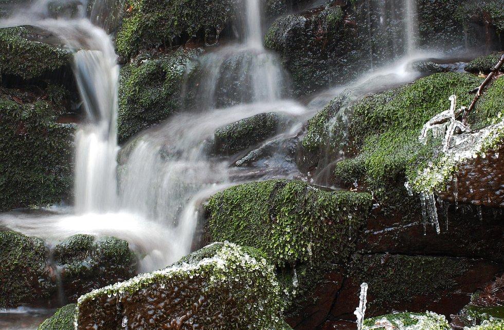 Vodopády Sedleckého potoka.