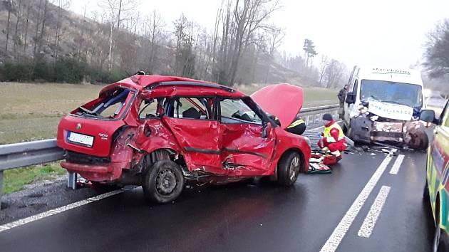 Tragická nehoda u Luk nad Jihlavou.