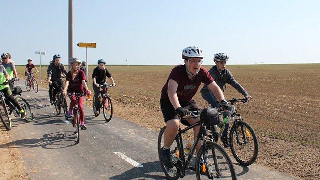 Přibyl další kus cyklostezky na trase Dukovany – Třebíč