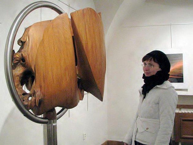 V třebíčské galerii Malovaný dům vystavuje své obrazy, sochy a digitální fotografie Lubomír Kerndl.