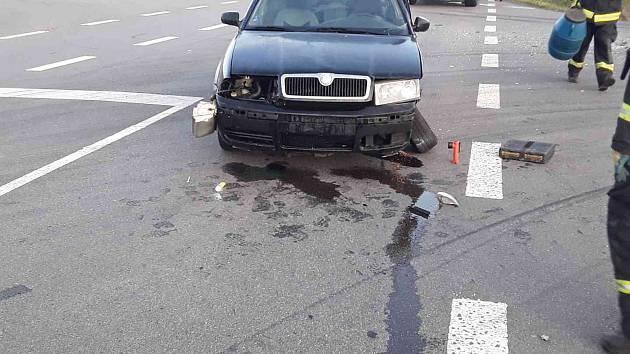 Dopravní nehoda u Kožichovic, 1. srpna 2019.
