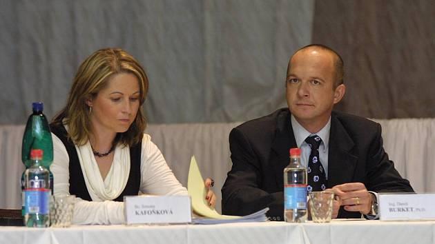 Simona Kafoňková a Daneš Burket.