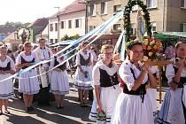 Poutní slavnost v Žarošicích na Moravě.
