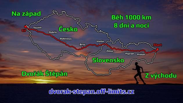 Běžec Dvořák se při přeběhu Česko - Slovenska objeví na Třebíčsku později