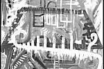 Paul Ewert: Africká krajina č. 4, akryl na plátně, 2017.