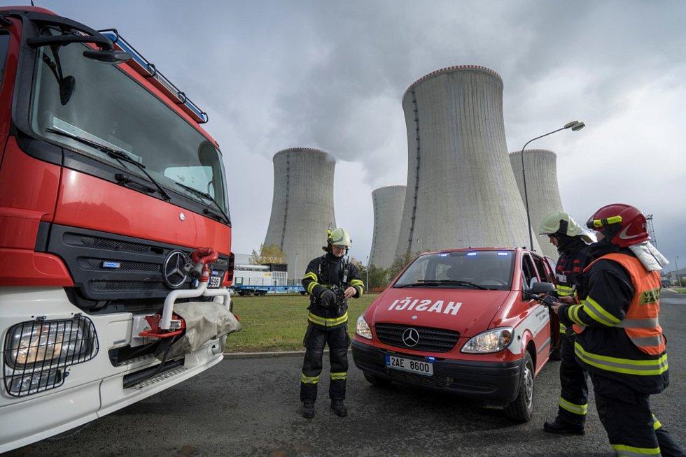 Hasiči z Jaderné elektrárny Dukovany začali naplno využívat moderní zásahový systém.