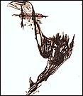 Pavel Herot: Opustila nás křídla za letu mrtvých ptáků, kresba.
