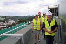 Nový pavilon chirurgických oborů v třebíčské nemocnici. Práce pokračují, hotovo bude v listopadu.