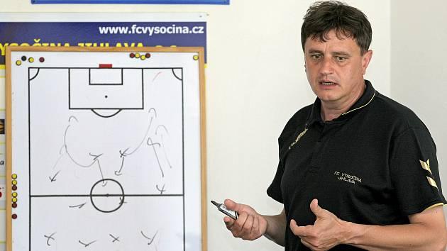 Trenér Josef Vrzáček.